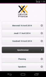 Sortie de la version 2014 de l'application mobile Devoxx France !